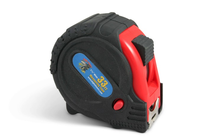 33′ Fractional Tape Measure – 3 Way Locking and Rubber Grip