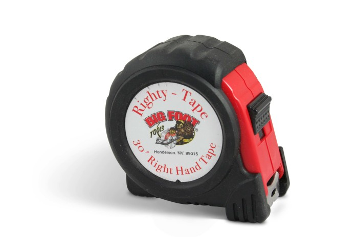 30′ Righty Tape Measure – Positive Lock and Rubber Grip